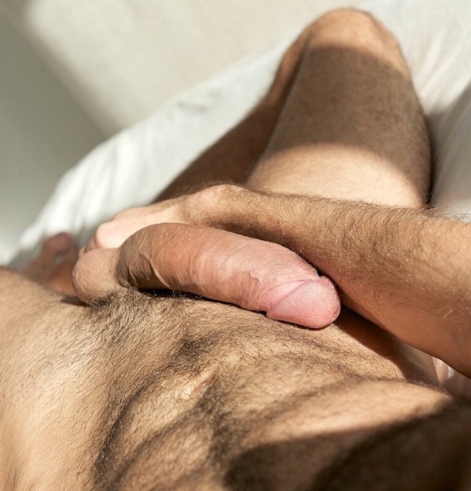 Naked penis touching hairy And have