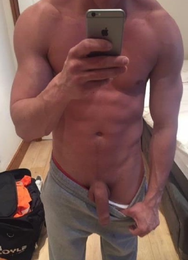 Hunk Showing Cock